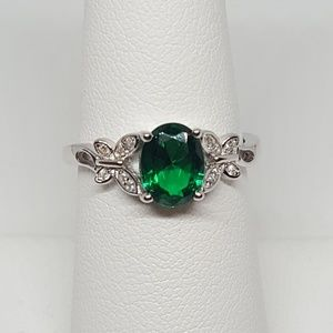 Jewelry - Sterling Silver Double Butterfly Ring